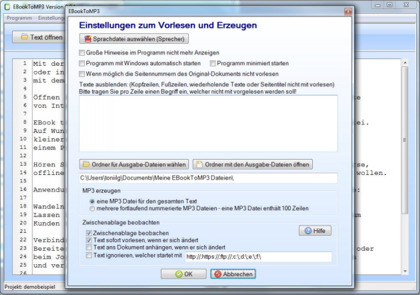 Text vorlesen lassen in deutsch